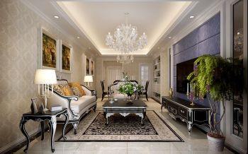华润中心凯旋门三室两厅简欧风格装修效果图