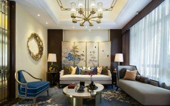 新中式装修风格三居室案例图