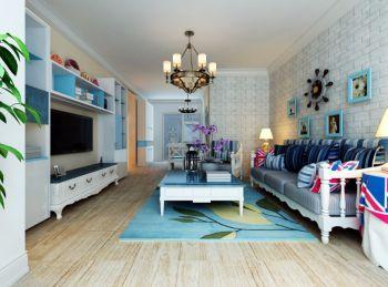 清新蓝白色地中海风格二居室装修案例赏析