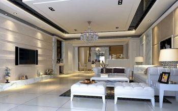 客厅吊顶现代欧式风格效果图