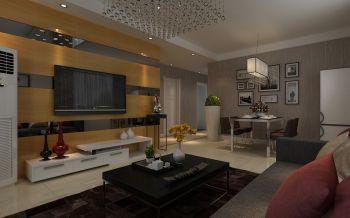 通和易居97平方二居室现代简约风格装修效果图