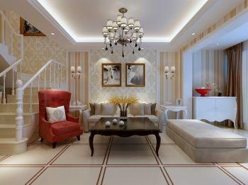 客厅楼梯现代欧式风格装潢设计图片