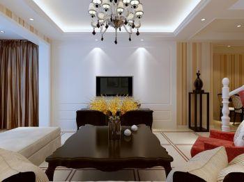 客厅背景墙现代欧式风格效果图