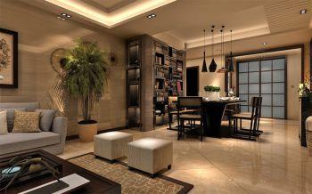 客厅现代中式风格装潢图片