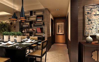 餐厅走廊现代中式风格效果图