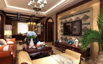 客厅美式风格装修效果图