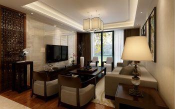 三室两厅户型现代中式风格装修效果图