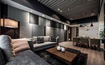 暗色系简约式二居室装修效果图