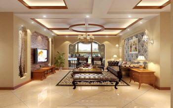 欧式田园风格四居室装修设计效果图