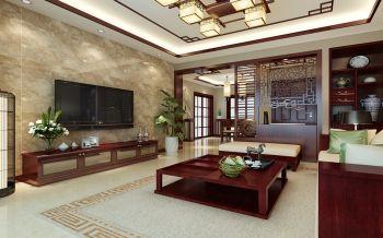 中式风格三居室装修设计效果图