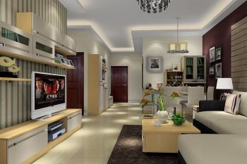 万华里简约风格三居室装修设计图