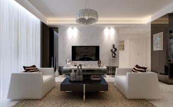 华地紫园105平三室两厅现代简约装修效果图