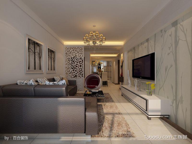 梧桐花园现代简约二居室装修效果图