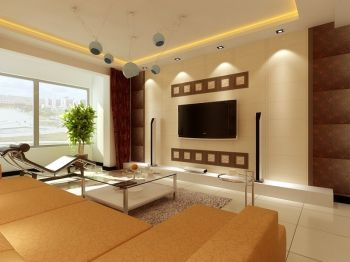 110平三室现代简约样板间效果图