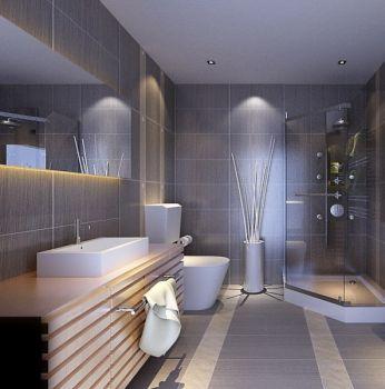 现代简约式三居室样板间装修图片