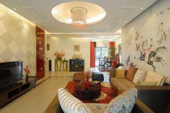 三居室现代中式混搭三居装修图片