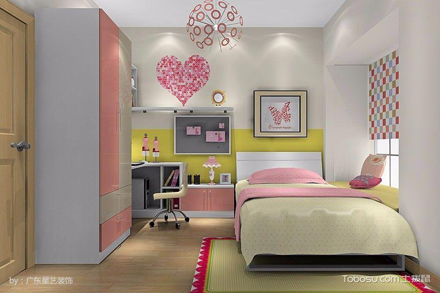 儿童房彩色窗帘混搭风格装修设计图片