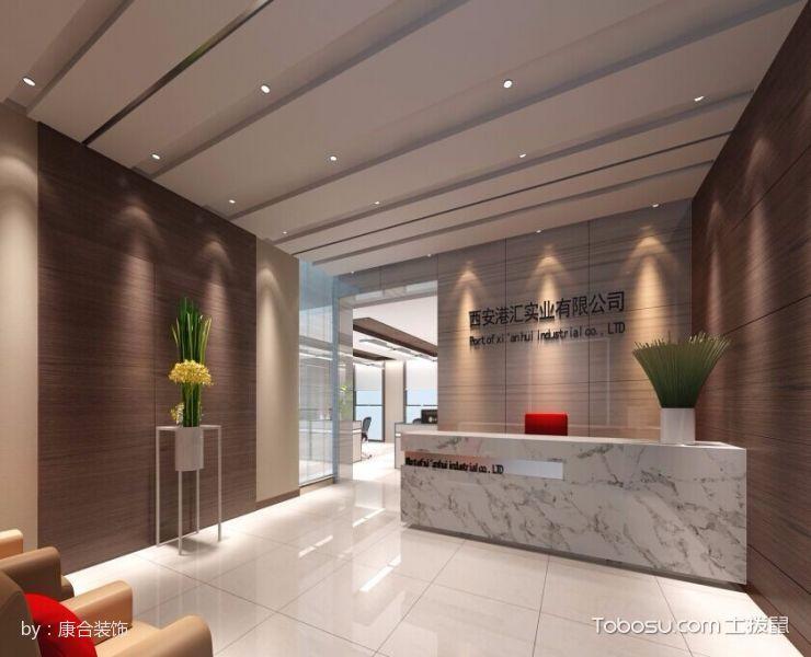 简约风格公司前台背景墙装潢设计