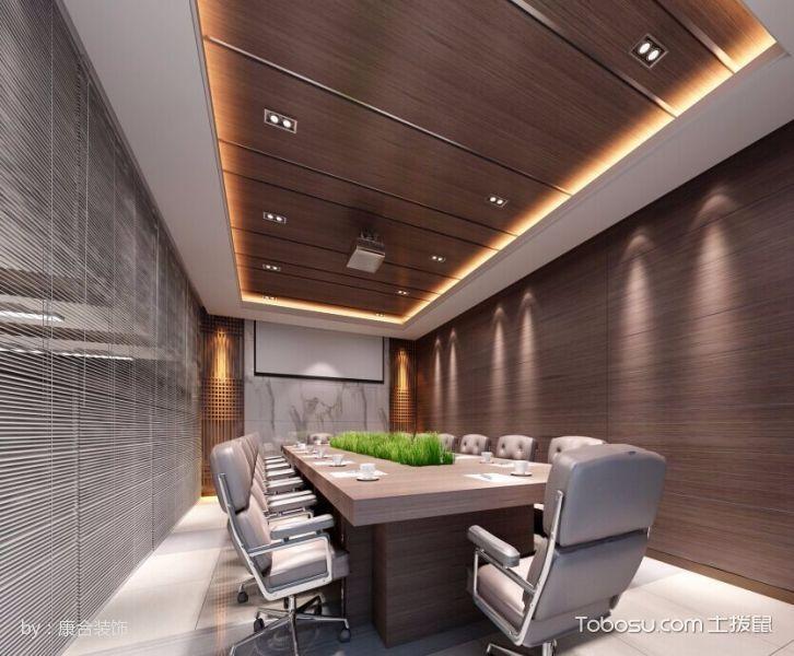 简约风格公司会议室吊顶装饰效果图