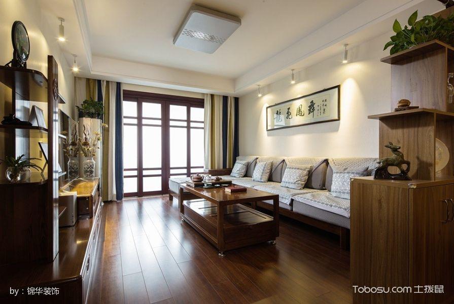 客厅_蠡湖家园99平米简单风格实景案例图