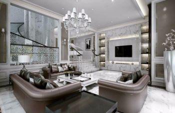 泰兴公寓现代欧式风大户型装修图片