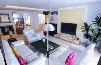 春晓花园现代温馨风格二居室案例图片