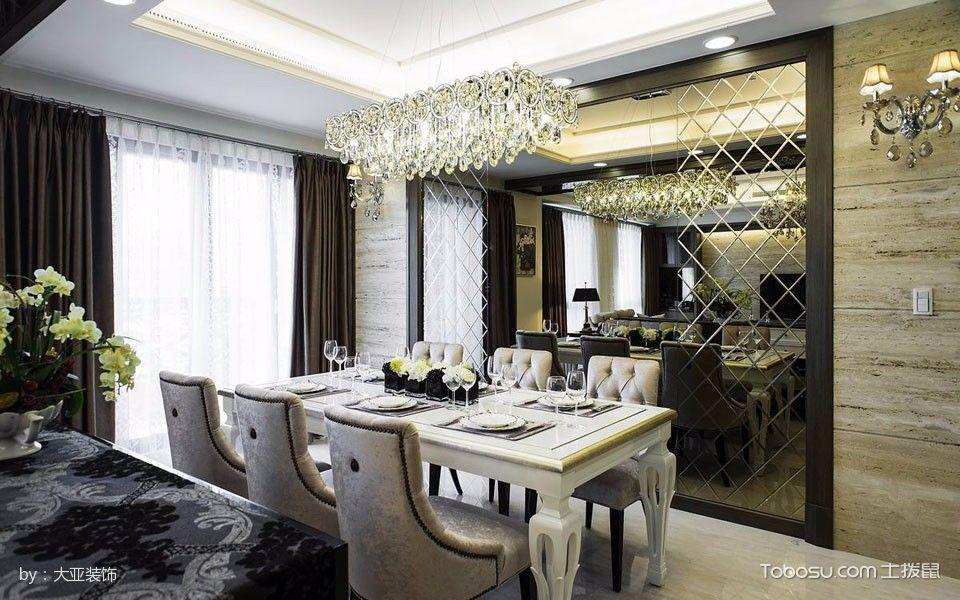 餐厅米色背景墙古典风格装饰效果图