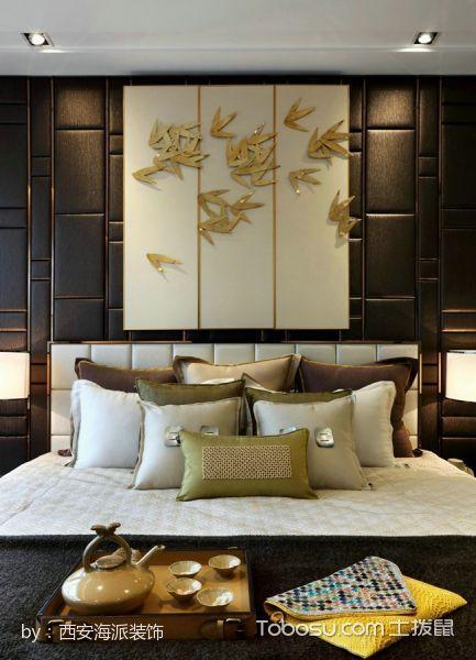 卧室白色床现代中式风格装饰效果图