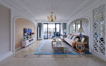 混搭地中海风格三居室装修效果图