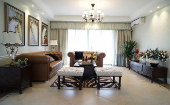 美式风格三居室案例装修图