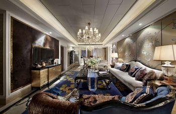 芝兰新城新古典风格三居室装修效果图案例