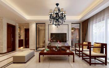 万科蓝山三室两厅一厨两卫户型现代风格装修效果图