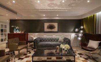 现代欧式风格三居室样板间装修图