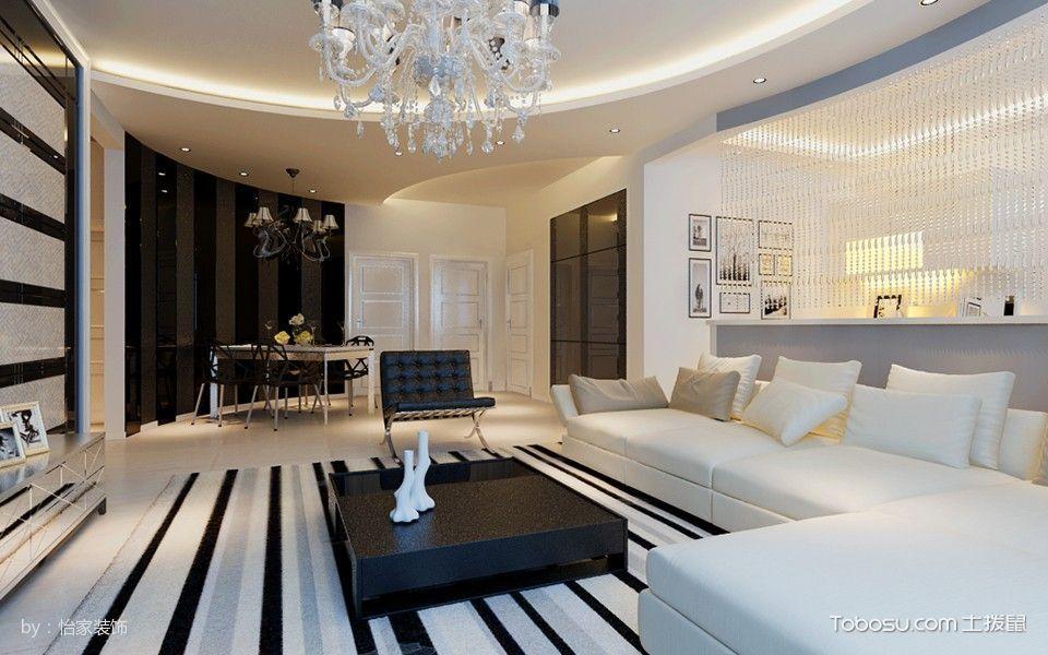星河荣御70平米现代简约风格三房两厅装修效果图