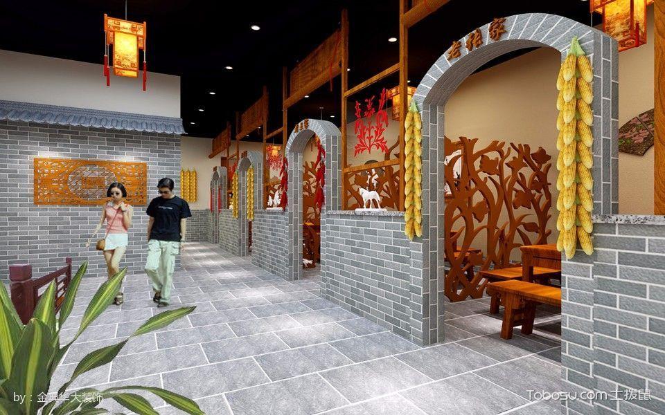 山西锅里滚餐厅走廊装修图片