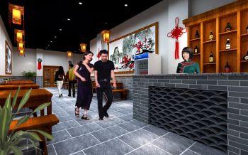山西锅里滚餐厅装修设计效果图