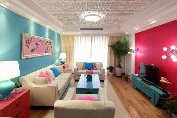 星海名城二期新中式风格套房装修效果图