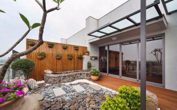 110平米现代风格简单木质小别墅装修效果图