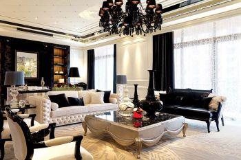美好黑色二房一厅客厅设计方案