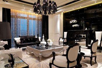 奢华二房一厅客厅现代欧式设计图