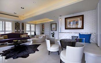客厅照片墙混搭风格装饰图片