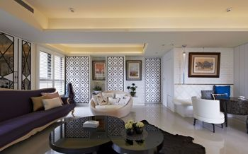 客厅混搭风格装修设计图片