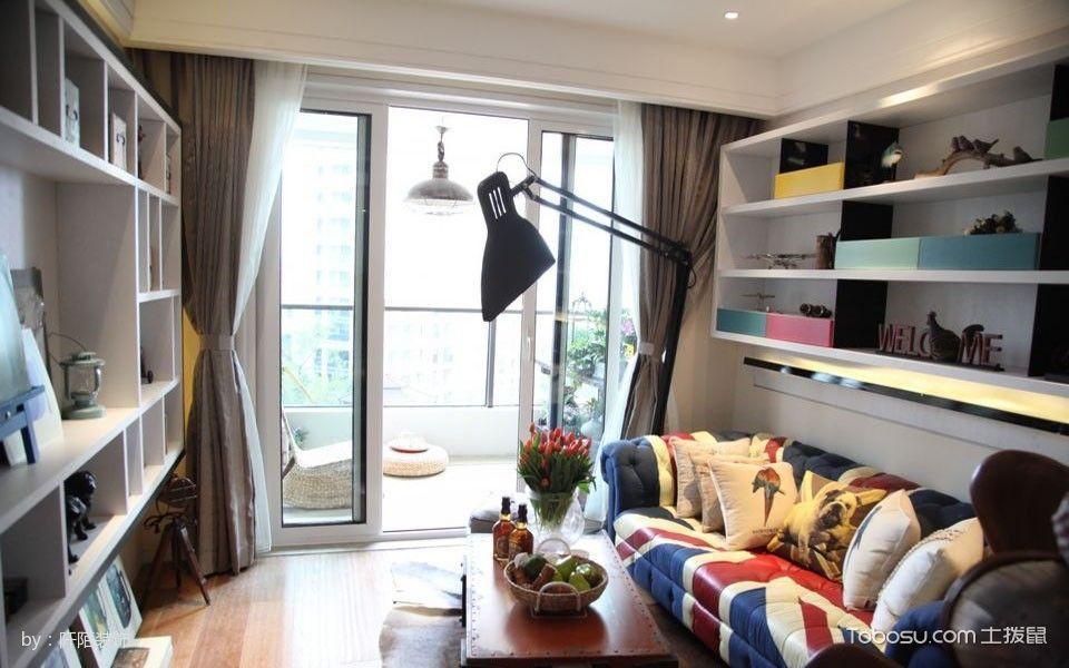 合生国际混70平搭简约2房1厅小户型装修效果图