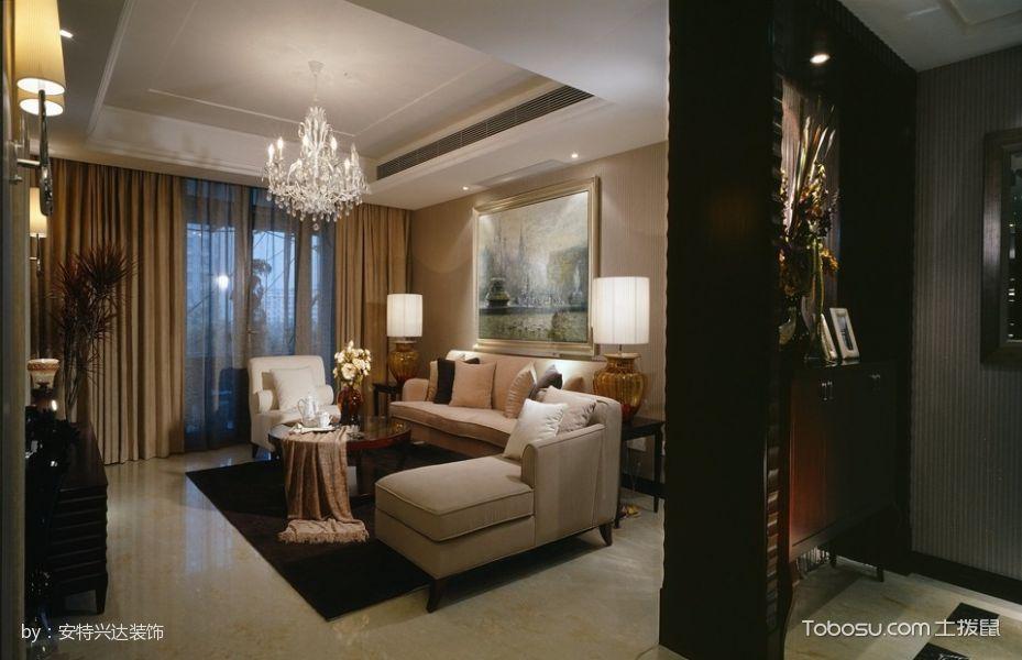 客厅隔断新古典风格装潢图片