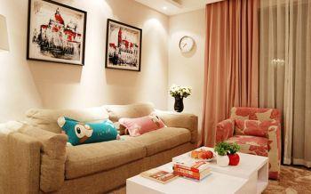 70平简约温馨家居小户型1室1厅1厨装修效果图