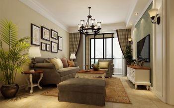 三室两厅一厨一卫户型简约美式风格装修效果