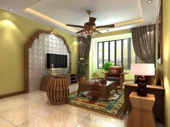 翡翠花园田园风格两居室装修效果图
