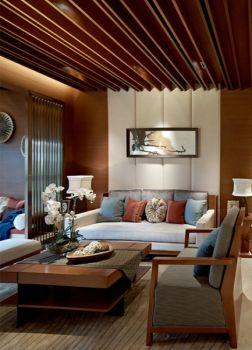 东南亚风格木质三居室装修效果图