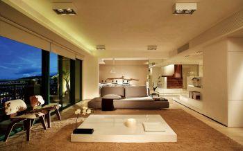 三居室现代简约风格三居室案例图片