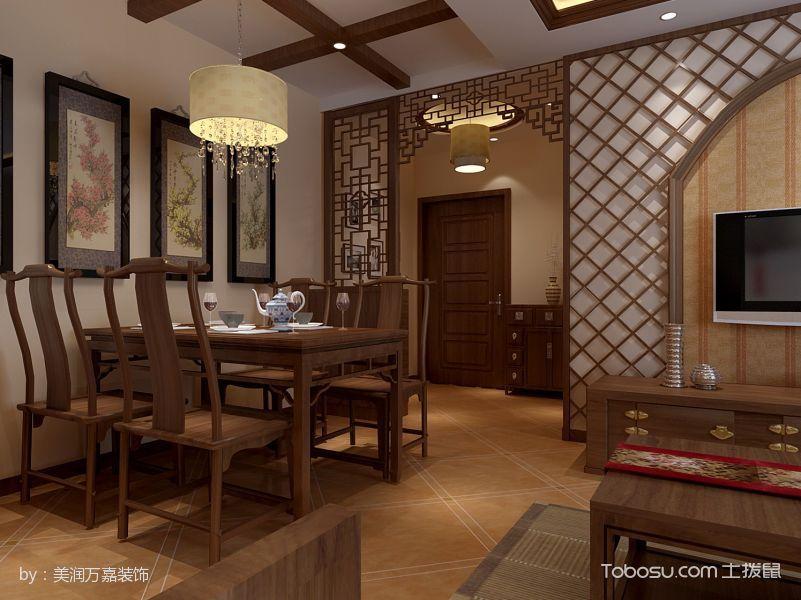 中式风格雅致三居室案例图片